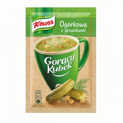 Knorr Hot Cup cucumber soup...